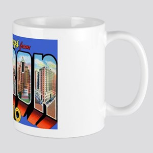 Akron Ohio Greetings Mug